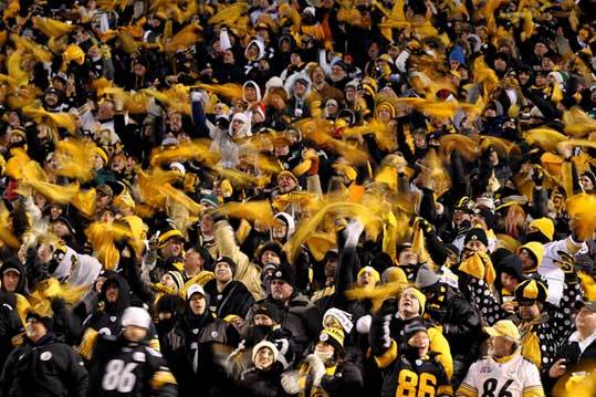 Steelers 24, Jets 19 Steeler fans waved their traditional 'Terrible Towels' during the game.