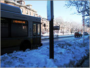 In clearing bus stops, responsibility is murky
