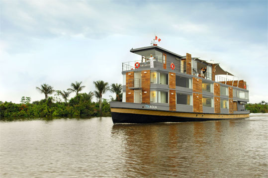 The Aqua Expeditions offers intimate cruises (only 24 guests per trip, maximum) along the Peruvian part of the Amazon. The popular chef Pedro-Miguel Schiaffino leads the kitchen.