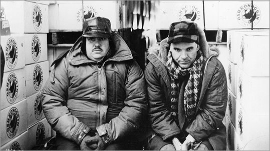 'Planes, Trains & Automobiles' (1987) Like many of John Hughes's movies, 'Planes, Trains & Automobiles' is simultaneously hysterical and warm and sweet. A major winter storm has crippled travel across much of the United States, and uptight businessman Neal Page (Steve Martin) finds himself with few options in his desperate attempt to get home to his family in Chicago in time for Thanksgiving dinner. Eventually, Page pairs up with bubbly, eccentric salesman Del Griffith (John Candy) on a snowbound, cross-country adventure with results that are truly funny.