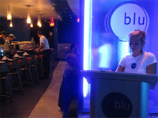 The stylish night crowds flock to Blu Sushi, a martini and sushi bar along McGregor Boulevard.