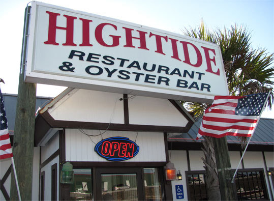 High Tide Restaurant and Oyster Bar Thirty years is a long time in the restaurant biz, so you know they're doing something right at High Tide Restaurant and Oyster Bar in Fort Walton Beach. A roadside lounge with an old-fashioned ambience, High Tide is renowned for its shucked-to-order oysters. ''In the summer, we go through 175 to 200 boxes a day,'' said manager-bartender-shucker Graham Skrivanie. ''People are offended if we run out, as if we didn't serve anything else!'' But they do: gumbo, chowder, fried or char-grilled fish, soft shell crabs, farm-raised catfish, scallops, and all manner of shrimp. The grilled grouper sandwich is so good that it reportedly has a fan club. - 1203 Miracle Strip Parkway, 850-244-2624