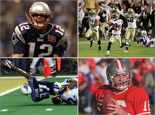 In honor of the big game this Sunday, we take a look at the 10 best Super Bowls of all-time. We're not talking about your favorite viewing of Tom Brady getting splashed with champagne either. We're talking about the best quality game since the inception of the Super Bowl in 1967. Vote for the one you think is best at the end.