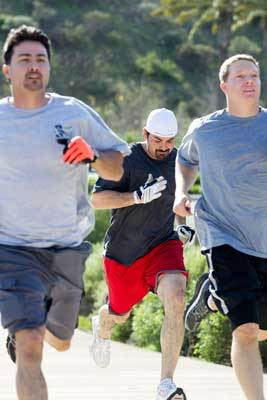 Part of Adrian's training includes hill sprints with his brother Edgar (left) and former teammate Nick Hundley (right). ''You've got to be who you are,' Adrian said. 'You can't try to be somebody else for somebody else because they expect you to be a certain way or they want you a certain way. You want the best results out of me, I've got to be myself.''