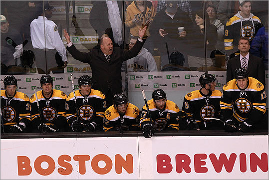 Bruins head coach Claude Julien was up in arms after an apparent Bruins goal in the third period was waved off after review.