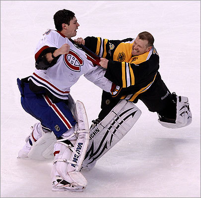 Thomas and Price engaged in a fight during the second period.