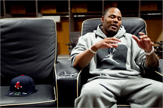 HOUSTON — In preparation for the 2011 season, Carl Crawford took some time outside of his workout schedule to talk to the Globe's Peter Abraham in the Houston Astros locker room. Crawford, a Houston native, has been going all out to earn his contract.