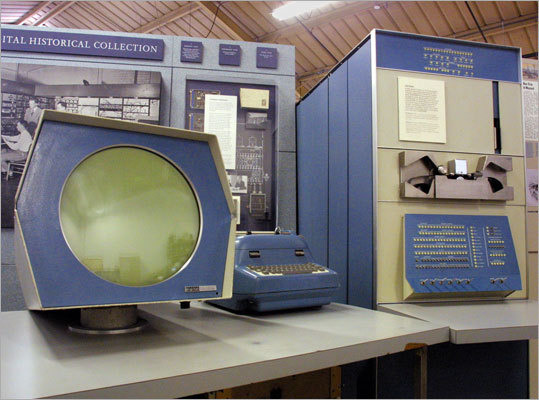 In 1958, Digital shipped its first product: electronic testing modules.Digital released its first computer in 1960. The PDP-1, shown here at the Computer Museum in Mountain View, Calif., was priced at $120,000. This was the computer used to play the first interactive computer game 'Spacewar.'