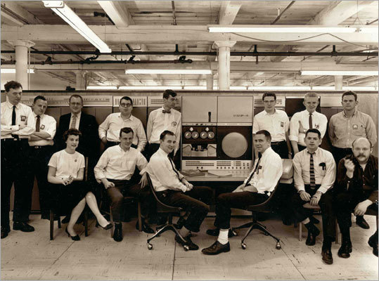 Digital's PDP-11, another big hit, was produced in 1970 and remained in production until 1997. Pictured here: the PDP team at Digital Equipment Corp.