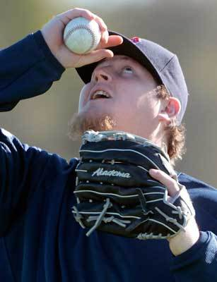 Newly signed relief pitcher Bobby Jenks worked out on the first official day of pitchers and catchers arriving to Fort Myers. 'This is a place I've wanted to play for a while. Once the opportunity came up, I had a chance to come here; I jumped right on it,' Jenks said.