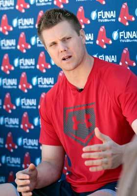 Jonathan Papelbon spoke to reporters in what may be his last spring training in a Boston uniform.