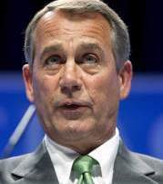 House Speaker John Boehner said everything is on the table in dealing with program reductions and Republicans 'will not punt' when they propose their budget alternative in April.
