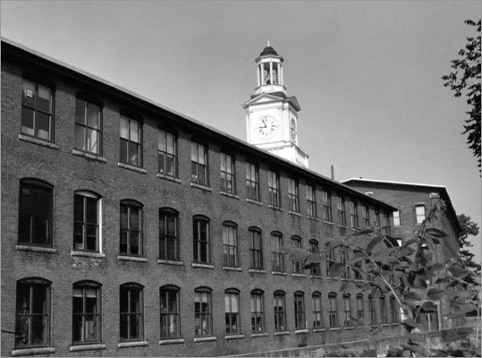 Today, the mill that once housed the Digital headquarters, seen here, now plays home to a lot of businesses, including the online job-search firm Monster.com, musical instrument maker Powell Flutes Inc., a Gold's Gym, and lots of small offices.