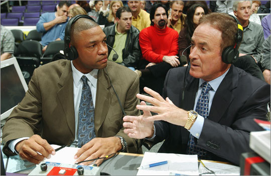Broadcast career After his playing days ended, Rivers turned to broadcasting. He was an analyst from 1996 to 1999 on the TNT network, and was paired with the legendary Al Michaels during the 2003-04 season for NBA broadcasts on ABC.