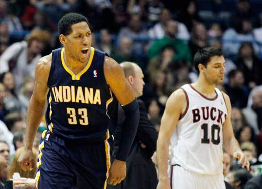 8. Indiana Pacers Record: 26-32 Record against Boston: 0-2 The Pacers tried to shake things up at the deadline, agreeing to a deal for Memphis guard O.J. Mayo. But the teams missed the deadline to report the deal and the transaction was nullified. The Pacers find themselves in the thick of the playoff race. A coaching change from Jim O'Brien to Frank Vogel has helped, but the Pacers need better production from players like Danny Granger (left). Granger is supposed to be a superstar by now. His improved play of late, along with the emergence of young big men Roy Hibbert and Tyler Hansbrough, have made the Pacers a likely playoff team.