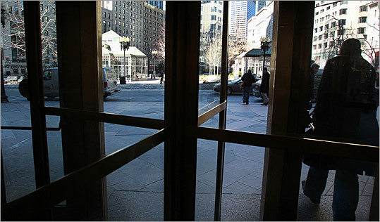 The doors of the building open up to Post Office Square. 'Our goal is to re-introduce a building that has been closed off for 50 years,' said Richard Galvin, president of Commonwealth Ventures, which was part of a group that bought the tower for $192 million in 2008. 'Its front door is on one of the greatest public parks in America, and we want to celebrate that.'