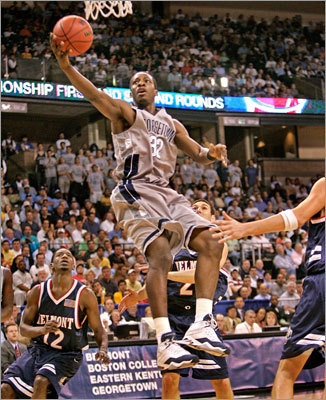Green starred at Georgetown and helped the Hoyas reach the Final Four of the NCAA Tournament in 2007. The Hoyas' run started with a victory over Belmont, but they were bounced in the Final Four by Ohio State. Green averaged 14.3 points and scored the most points of any player on the team in 2007.