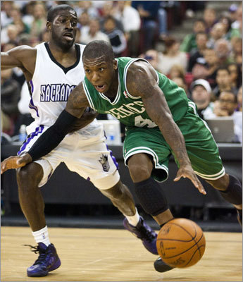 Of course, getting Green and Krstic required the Celtics to give up something. One piece was Nate Robinson, an energetic guard who is a three-time NBA slam dunk champ. His signature moment for the Celtics came during a memorable Game 4 of the NBA Finals when he and forward Glen Davis helped rescue a faltering starting five with a huge relief performance. Afterward, Robinson famously quipped that he and Davis were like the children's movie characters 'Shrek and Donkey.'