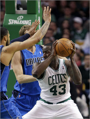 Popular center Kendrick Perkins was the most stunning part of the Celtics-Thunder deal because Perkins was a starter. He injured his knee in Game 6 of the NBA Finals in June, and many believe that made the difference for the Celtics as they lost the NBA title because the Lakers dominated the rebounding aspect of Game 7. Perkins returned to the Celtics' lineup in January. He's only a career 6.4 point per game scorer, but his defense and ability to control the lanes were his true contributions.