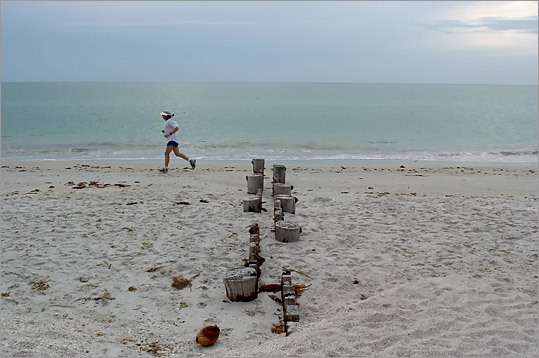 The beach in Naples, Fla., is one of the lures to New Englanders envisioning a sunny retirement.