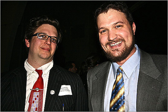 Ned Hinkle, the Creative Director of The Brattle Foundation, posed with Garrett Quinn.