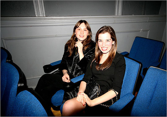 Flora Detournay and Diana Katz snagged seats, ready to watch the awards ceremony.