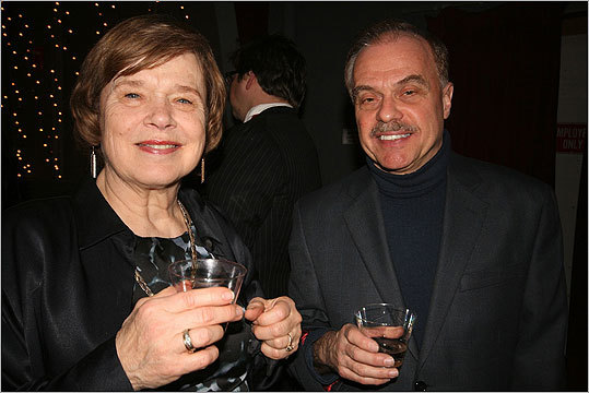 Peggy Patton and Jim Salini enjoyed drinks and celebrated the 83d Academy Awards.