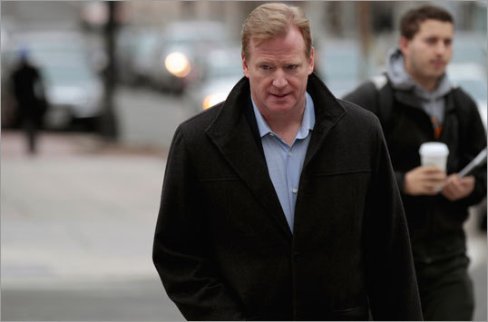 2011 NFL lockout Commissioner Roger Goodell (left) and the National Football League came to an agreement on a new collective bargaining agreement with NFL players on July 25, avoiding the loss of regular season games. The agreement split the some $9 billion in revenue that the NFL generates into a deal more favorable for league owners. The only real loss for the league was the time normally spent by players and coaches in the offseason preparing as a team in minicamps and other workouts.