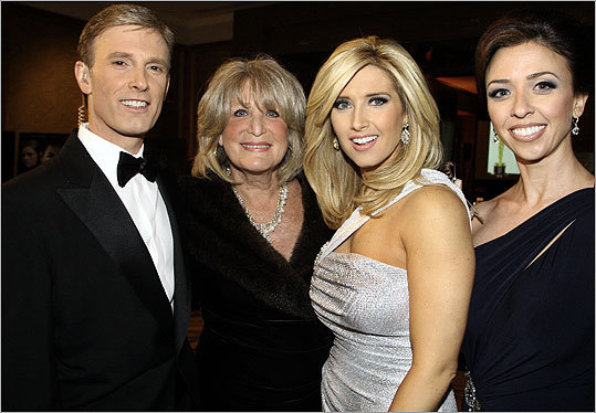 Ellie Fund's 15th Annual Oscar Night Gala at the Mandarin Oriental Boston was emceed by, from left, WCVB-TV 5's David Brown, Susan Wornick, Bianca de la Garza and JC Monahan.