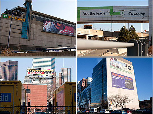 Some of the most visible billboards in the Boston area appear to be illegal and may have to come down, federal highway authorities concluded in a recent review. The Federal Highway Administration found problem signs during its first inspection of Massachusetts's outdoor advertising program in more than a decade, and reported their findings last week. Here are a few of the 'problematic' signs cited by the report.
