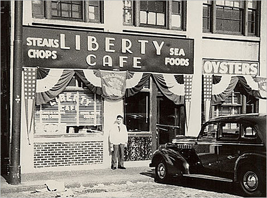 Before it became the huge development it is today, the site had more modest beginnings. Jimmy Doulos opened his restaurant as Liberty Cafeteria in 1924.