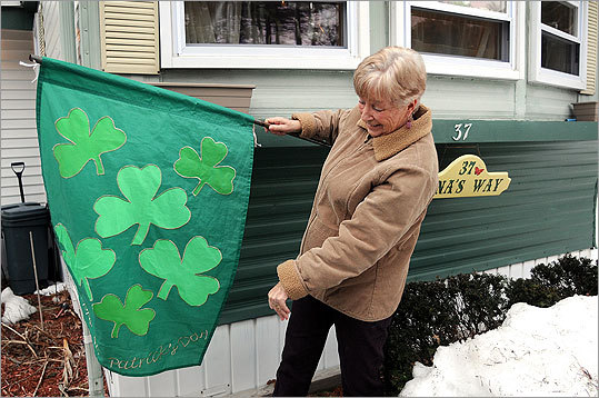Halifax Irish population: 38.7% This Plymouth County town has more than 7,000 residents, more than a third of whom consider themselves to have roots in Ireland. Jean MacDonald, a nine-year Halifax resident who grew up in Weymouth, hung out an Irish flag in front of her mobile home. Margin of error: +/-15.1%