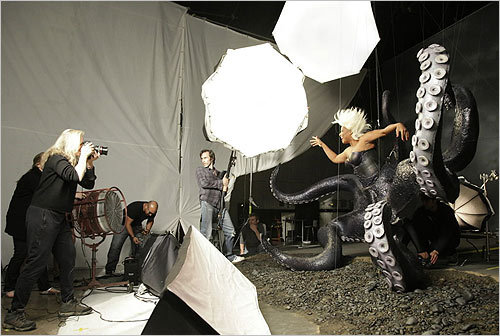In this handout image provided by Disney Parks, Queen Latifah portrayed Ursula during the photo shoot.