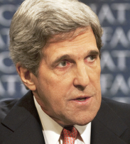 "ASSESSING OPTIONS In an interview on ""Face the Nation,"" Kerry stressed that a no-fly zone should only be put in place to stop a civilian crisis."