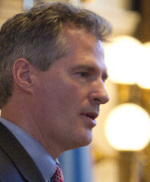 'Once we make that commit- ment, we're there for a long, long time,' Senator Scott Brown said about the US role in Libya.