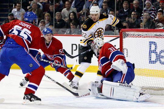 Price thwarted an attempt by Bruins' Shawn Thornton.