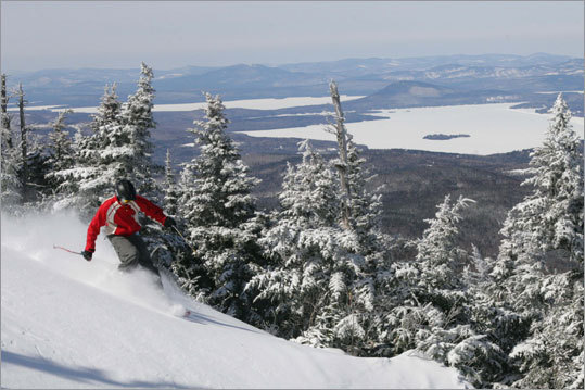 Sebago Day Saddleback Mountain, Rangeley, Maine If you can make your way to either South Portland or Auburn, Maine, on March 17, here's one of the least expensive ways to ski for the day. For just $35, you'll receive transportation, a lift ticket, and lunch at Saddleback, which will be celebrating St. Patrick's Day with events including a scavenger hunt. Pickup will be at 6 a.m. See website for complete details.