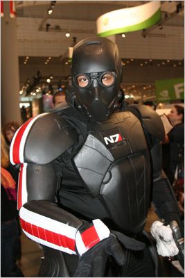 Eric 'The Smoke' Moran, 41, is a huge fan of the 'Mass Effect' video game series. He decided that there wouldn't be a better way to convey a character &#8211 in this instance Commander Shepard &#8211 than by bringing 'him to life,' he said.