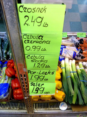 Even the vegetables are sold in Polish on Broad Street in New Britain. Read: Renewed business district tightens a community's ties