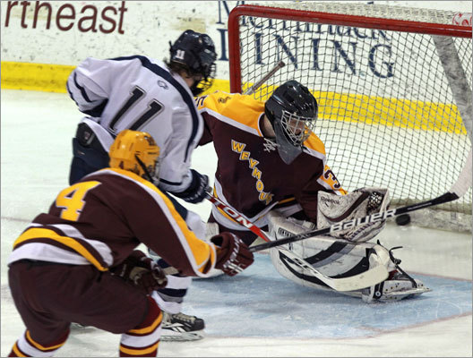 St. John's Prep's Colin Blackwell (11) scored his third goal against Weymouth in the Super 8 semifinal.