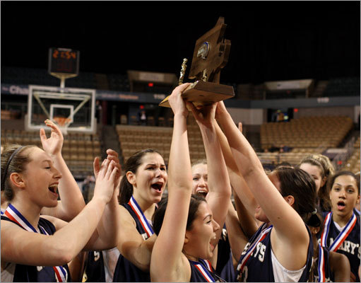 Division 3 girls The St. Mary's girls' basketball team defeated defending state champ Lee 64-54 in the MIAA Division 3 state title game Saturday at the DCU Center in Worcester. Story: St. Mary's wins D-3 title