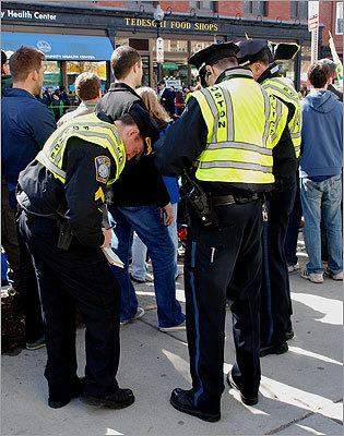 Police were writing $200 citations for public drinking along the parade route.