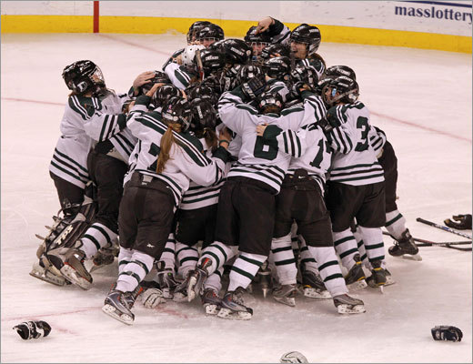 Division 2 girls hockey Duxbury girls celebrated after winning the Division 2 hockey state championship at TD Garden, beating Fontbonne 2-1. Story: A deluxe finish for Duxbury