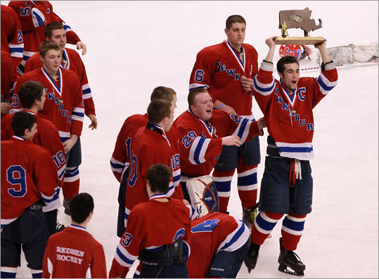 Division 2 boys hockey Tewksbury fought back from a first period deficit to beat Franklin at TD Garden Sunday afternoon 2-1 in overtime. It was Tewksbury's first Division 2 state title since 1995. Story: Tewksbury wins in OT