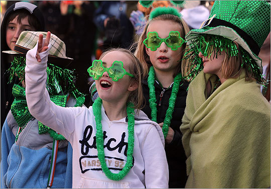 Lily Adelmann, Hailey Murphy, and Katherine Morrissey enjoyed themselves at one of the biggest St. Patrick's Day celebrations in the country.