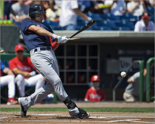 Jacoby Ellsbury shattered his bat on a pitch from Halladay in the first inning of their game Monday.
