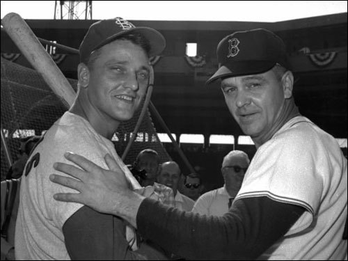 Dick Williams Williams (pictured on the right with the Cardinals' Roger Maris before Game 2 off the 1967 World Series) was a tough disciplinarian and one of only two managers to guide three franchises to the World Series. With a focus on fundamentals and hard work, his 'Impossible Dream' Red Sox went on to win their first AL pennant since 1946, but lost to the favored Cardinals in seven games in the '67 World Series. Williams was elected to the Hall of Fame in 2007.