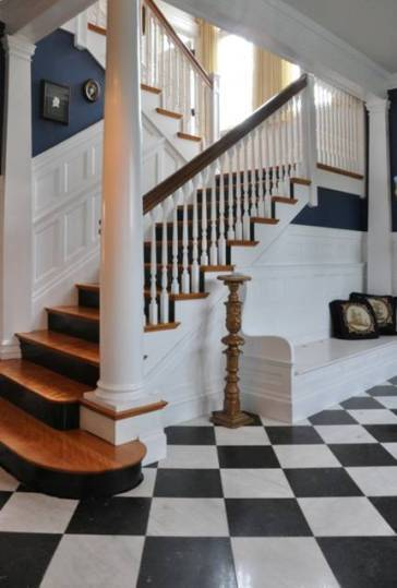 In the 1980s, Historic Newton did a survey of the city's older homes, which began to uncover Cobb's legacy. Since then, Historic Newton has sponsored a small exhibit at the Newton Free Library, as well as considering a larger exhibit at the Jackson Homestead and Museum. A staircase inside a Victorian home Cobb designed.