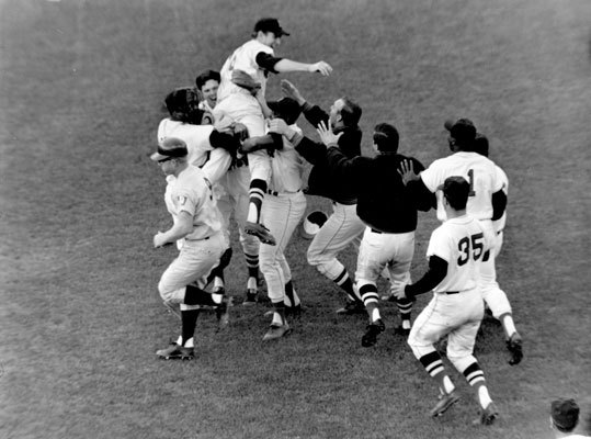 Jim Lonborg The 1967 AL Cy Young Award winner, Gentleman Jim went 22-9 with 246 strikeouts that season. In this Oct. 2, 1967 photo, Lonborg is lifted by his teammates following a victory over the Twins that gave the Red Sox their first pennant in 31 years. Four days later in the World Series, he beat the heavily favored Cardinals with a one-hitter. Lonborg then tossed a three-hitter in Game 5. But on only two days' rest, Lonborg lost a 7-2 decision in Game 7. ( Lonborg's stats and facts )