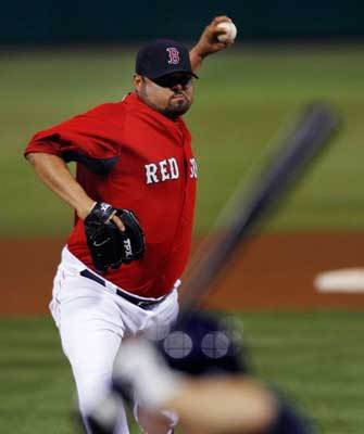 Reliever Dennys Reyes gave up an unearned run in the seventh inning.